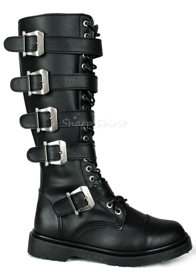 Multi Buckle Strap Vegan Boots