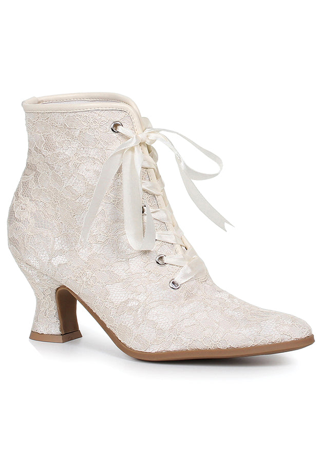 White Wedding Bells Victorian Booties