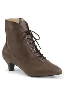 Renaissance Style Brown Ankle High Booties