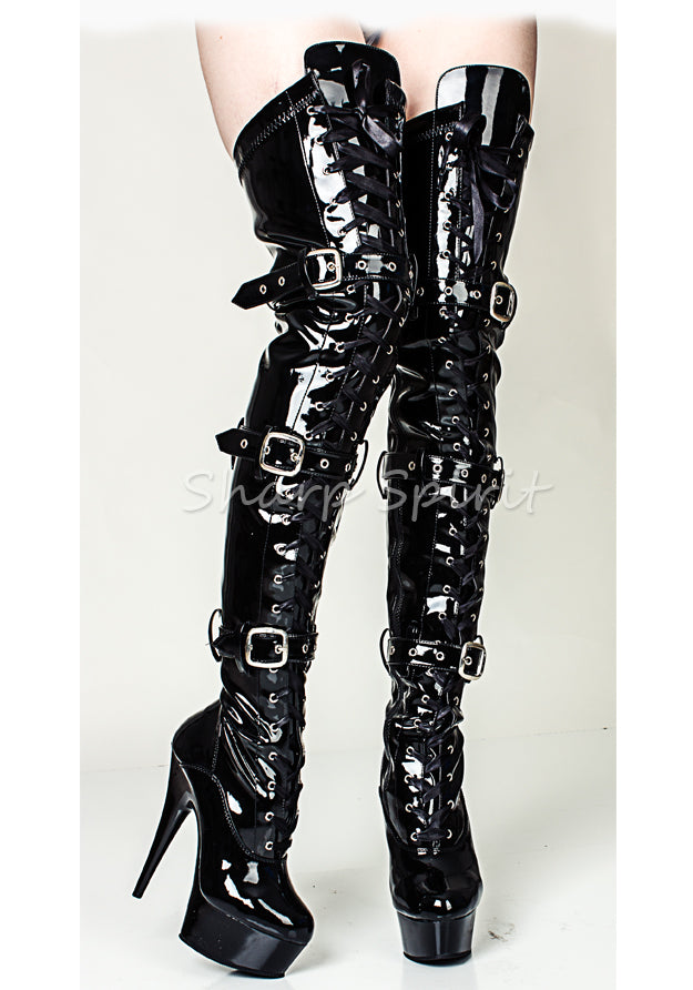 Fetish Thigh High Platform Sexy Boots