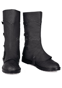 Folded Cuff Mens Calf Boots