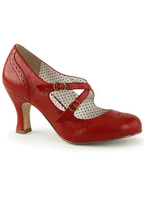 Gigi Red Pin Up Vintage Style Pumps