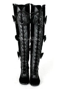 Lace Up Thigh High Kawaii Womens Boots