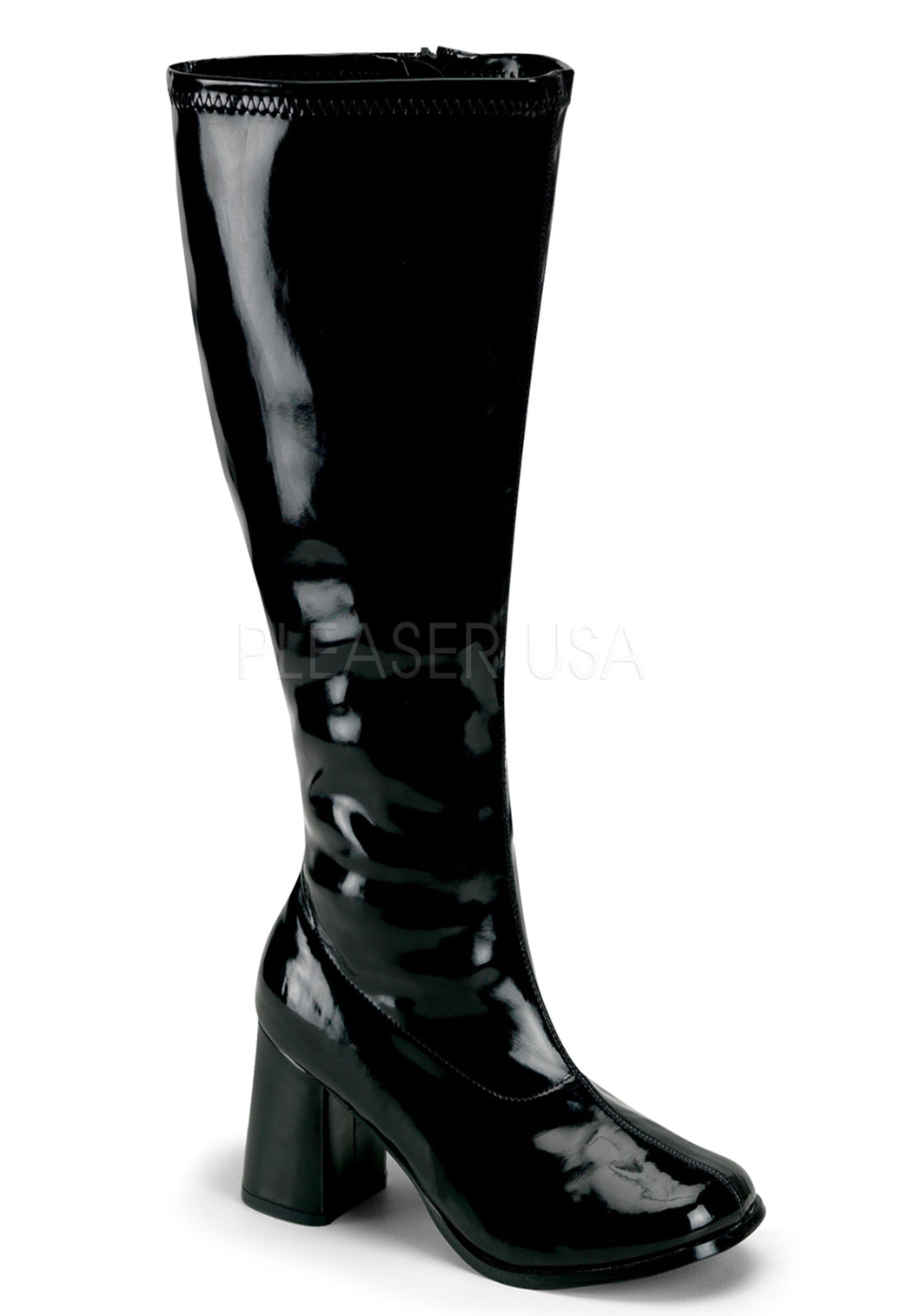 Low Heel Wide Calf Boots