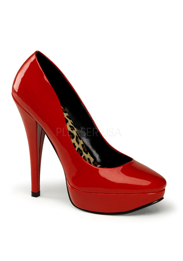 Red Pat Classic Platform Pumps