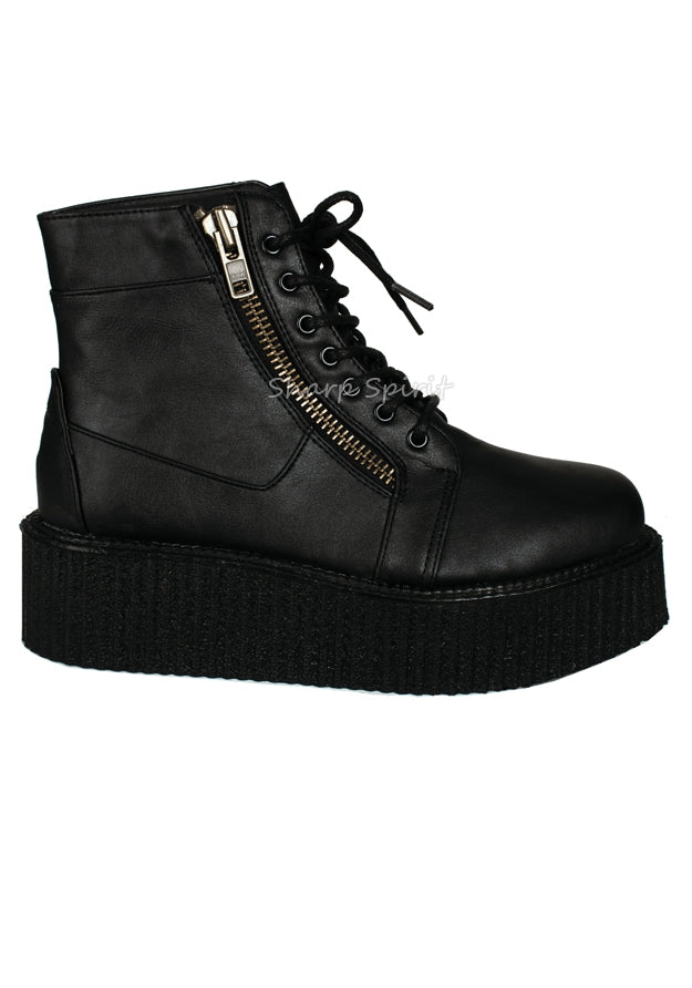 High Top Platform Creeper Boots