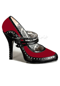 Spectator Red & Black High Heels