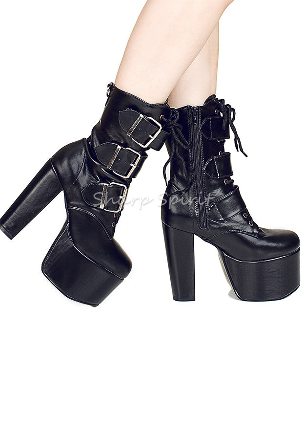 Buckled Mid-Calf HellBound Boots
