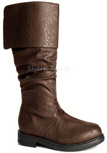 Brown Western Folded Cuff Boots