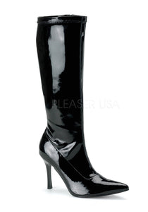Black Pat Pointy Toe Boots