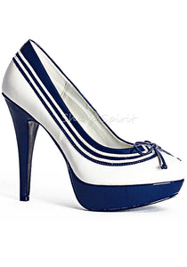 Mary Jane Pumps W. Stripe & Bow