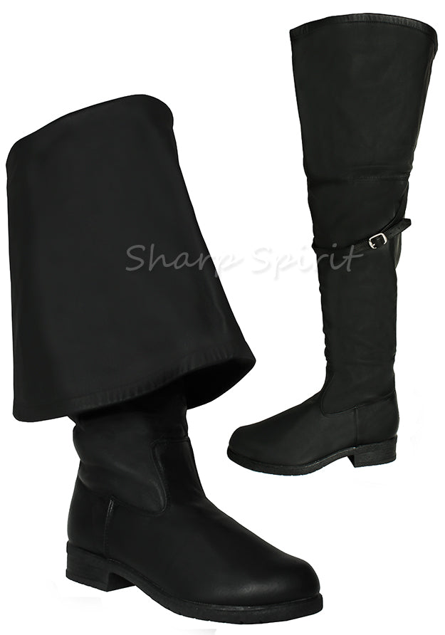 Fold Over Cuff Pirate Boots