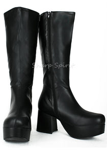 Mens Disco Platform Knee High Boots