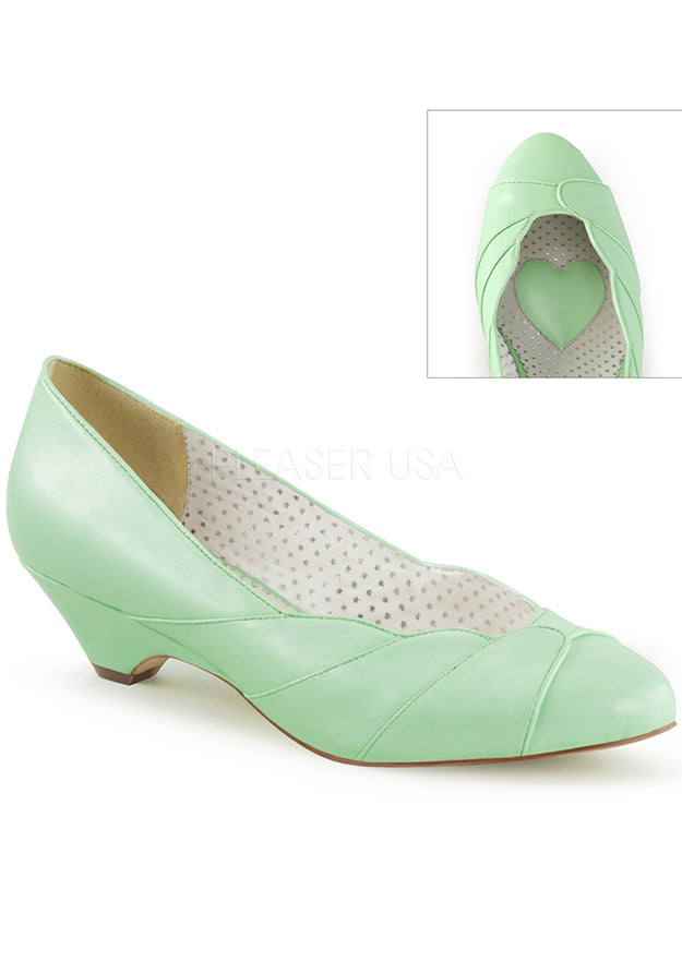 Mint To Be Low Heel Vintage Style Heels
