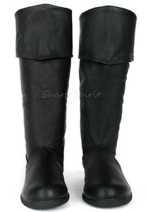 Pig Leather Pirate Cosplay Boot