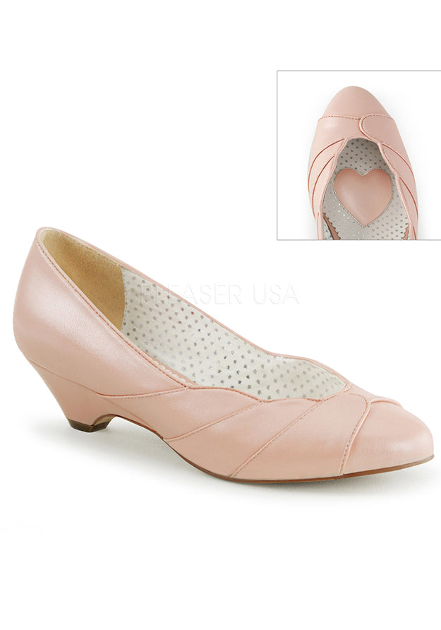 Life is Peachy Vintage Style Low Heels