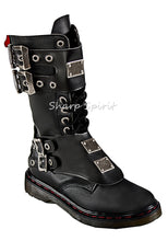 Load image into Gallery viewer, Mid-Calf Buckle Strap Boots