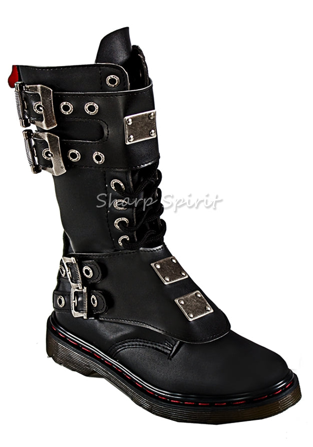Mid-Calf Buckle Strap Boots