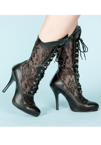 Lace Mid-Calf Victorian Womens Boots