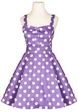 Load image into Gallery viewer, Purple & White Vintage Style Dress