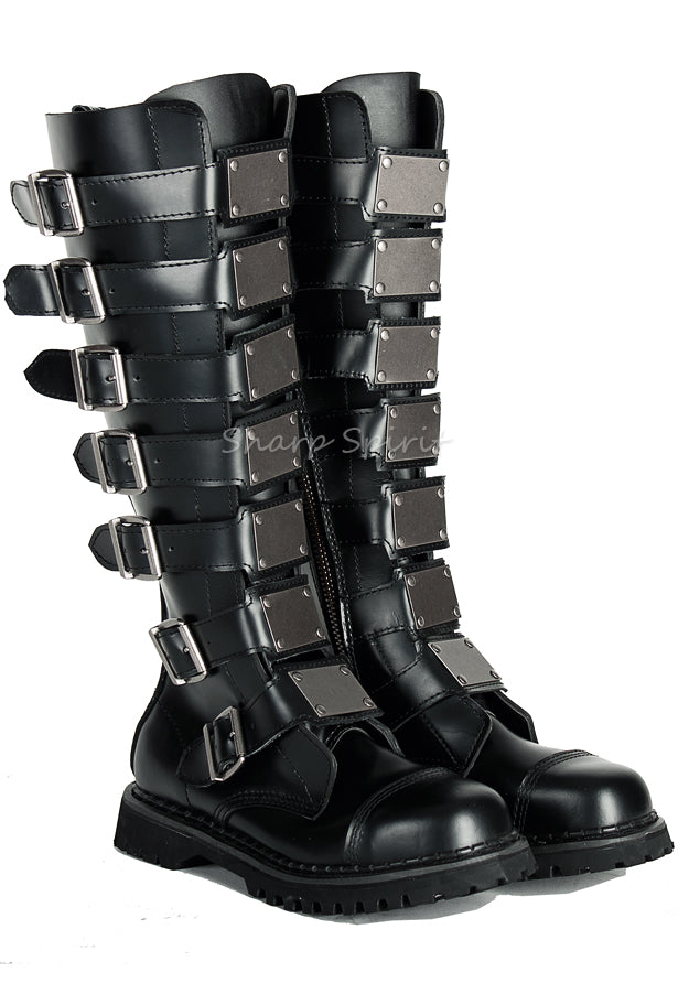 Knee High Boots w. Metal Plates