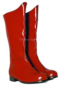 Red Patent Cosplay Men's Boots