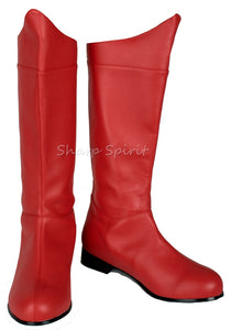 Red SuperHero Comic Book Cosplay Boots