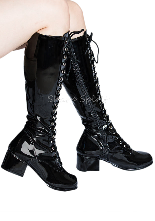 Retro Gogo Lace Up Boots
