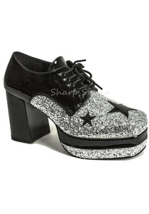 Rock Star Disco Glitter Platform Shoes