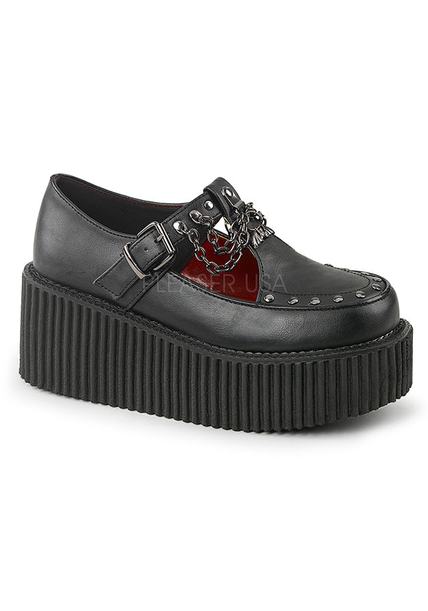 School Girl Adult Platform T-Strap Creepers