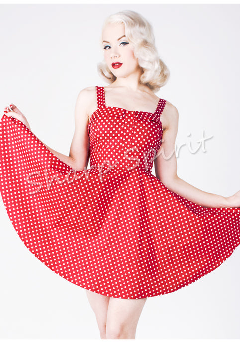 Seeing Dots Vintage Style Strapped Dress