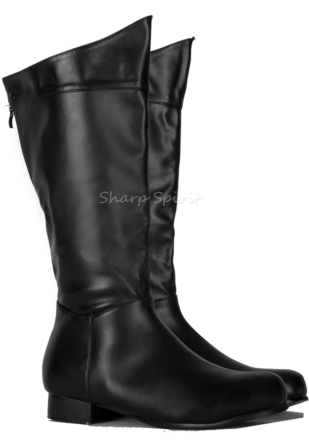 Black Comic SuperHero Men's Boots