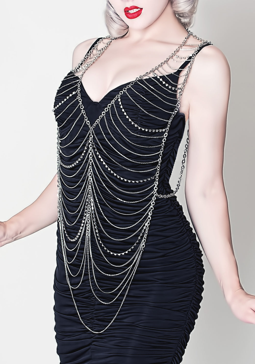Rhinestone Body Chain Necklace
