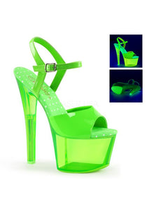 "7"" Heel 2 3/4""Tinted PF Ankle Strap Sandal"