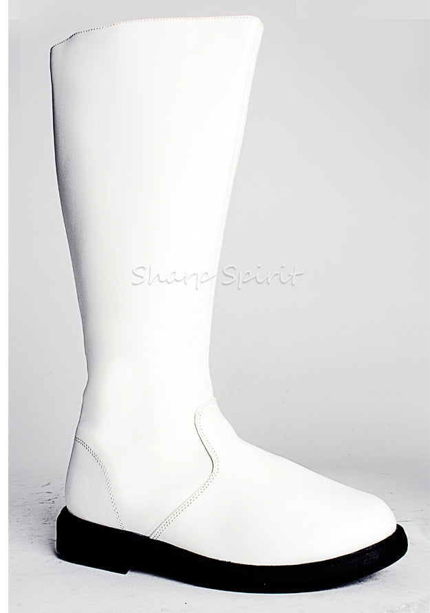 White Knee High Super Hero Mens Boots