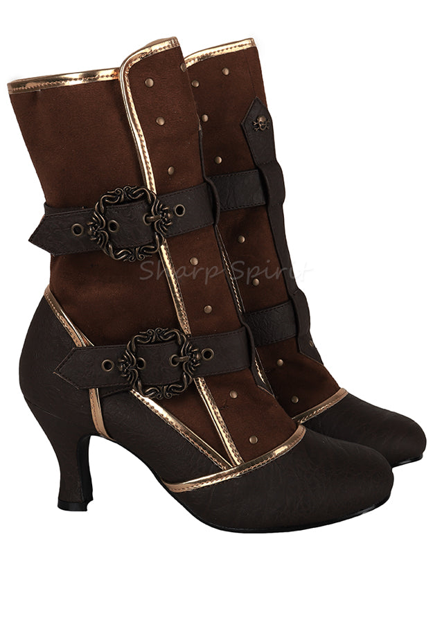 Steampunk Cosplay Victorian Queen Halloween Costume Boots