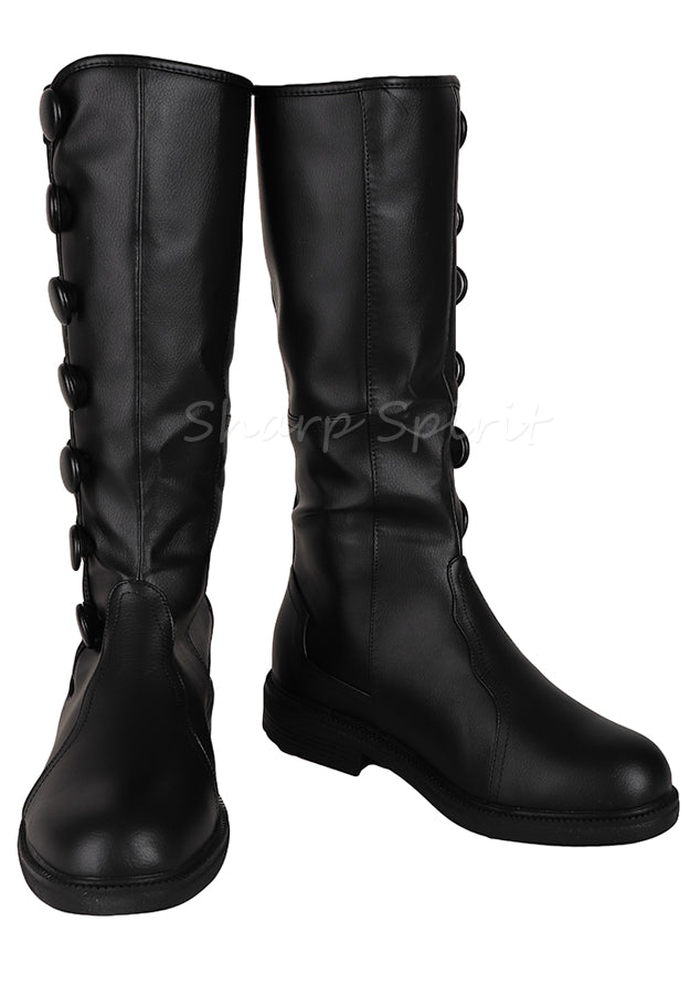 Steampunk Knee High Button Mens Cosplay Boots