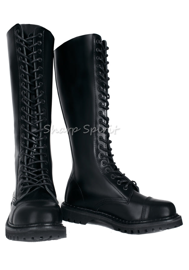 Steel Toe Knee High Boots