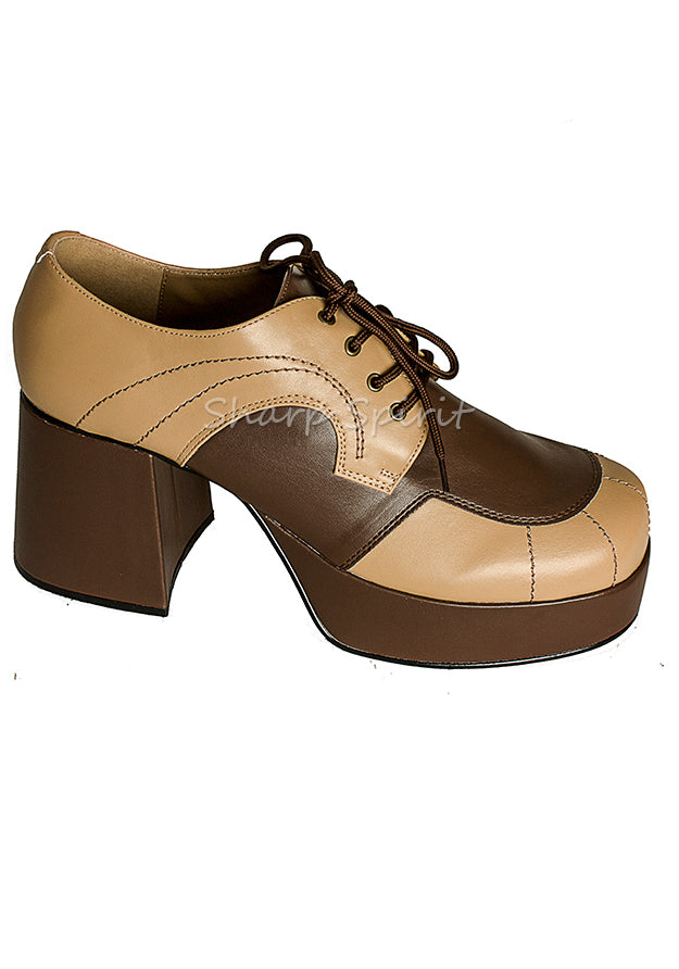 Tan & Brown Steampunk Men's Shoes