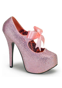 Pink Rhinestone Mary Jane Pumps