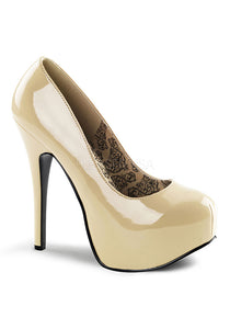 Social Cream Pat Platform Pumps