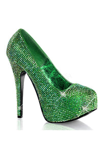 Green Rhinestone High Heels
