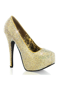 Gold Rhinestone High Heels
