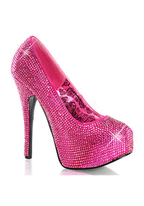 Hot Pink Fuchsia Rhinestone High Heels