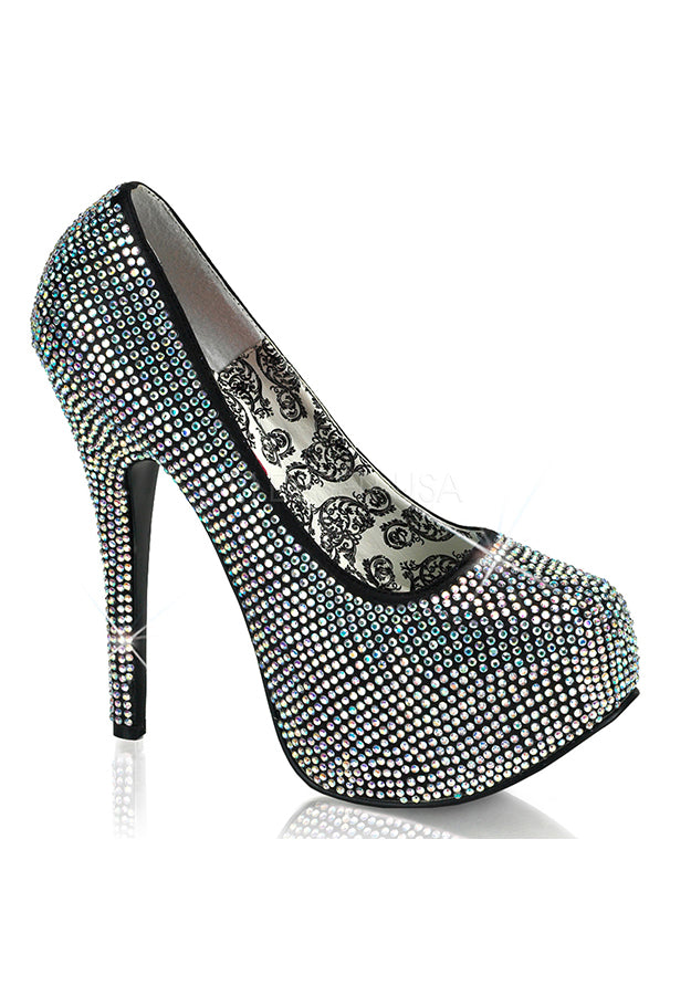Iridescent Rhinestone High Heels