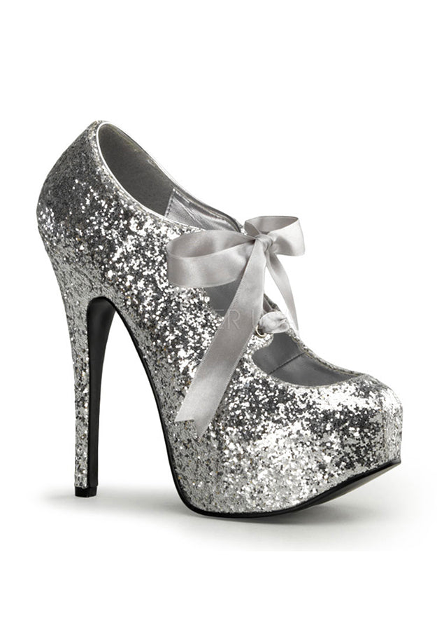 Silver Glitter Mary Jane Shoes