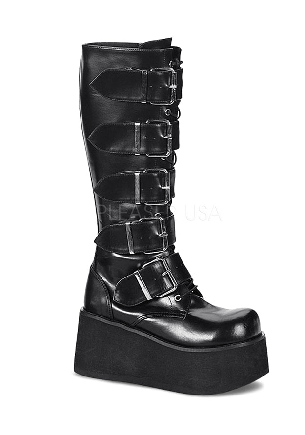 5 Buckle Cyber Platform Boots