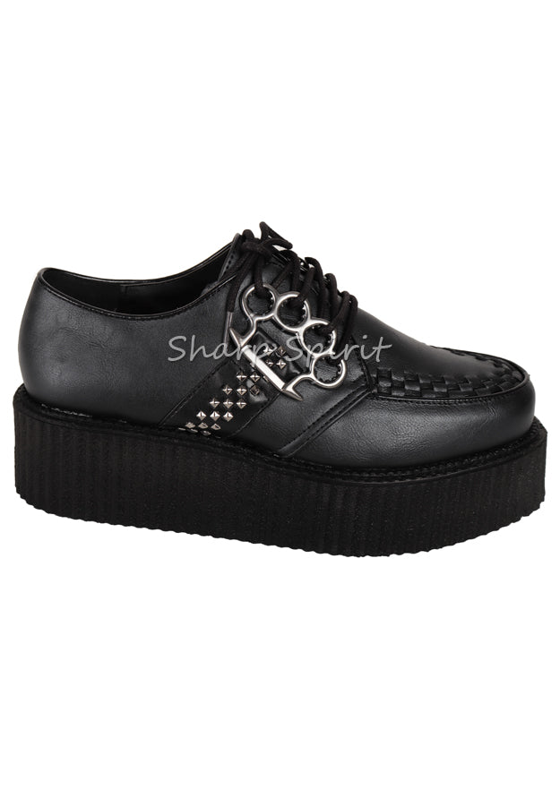 Unisex Knuckle Platform Creeper Shoes