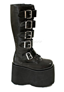 Vegan Leather Fetish Combat Boots
