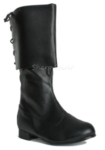 Vegan Leather Men's Pirate Boots